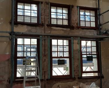 Installing new timber windows