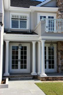 Hamptons style facade with Bristol doors and awning windows