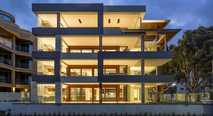 Award-winning apartments featuring timber joinery by Cedar West