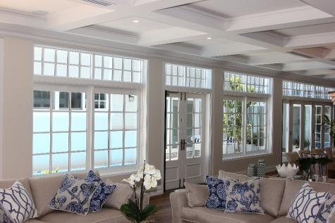 White painted timber doors and windows by Cedar West