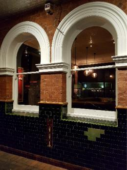Windows and architraves at Leederville Hotel