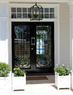 Timber and wrought iron Belfast door by Cedar West