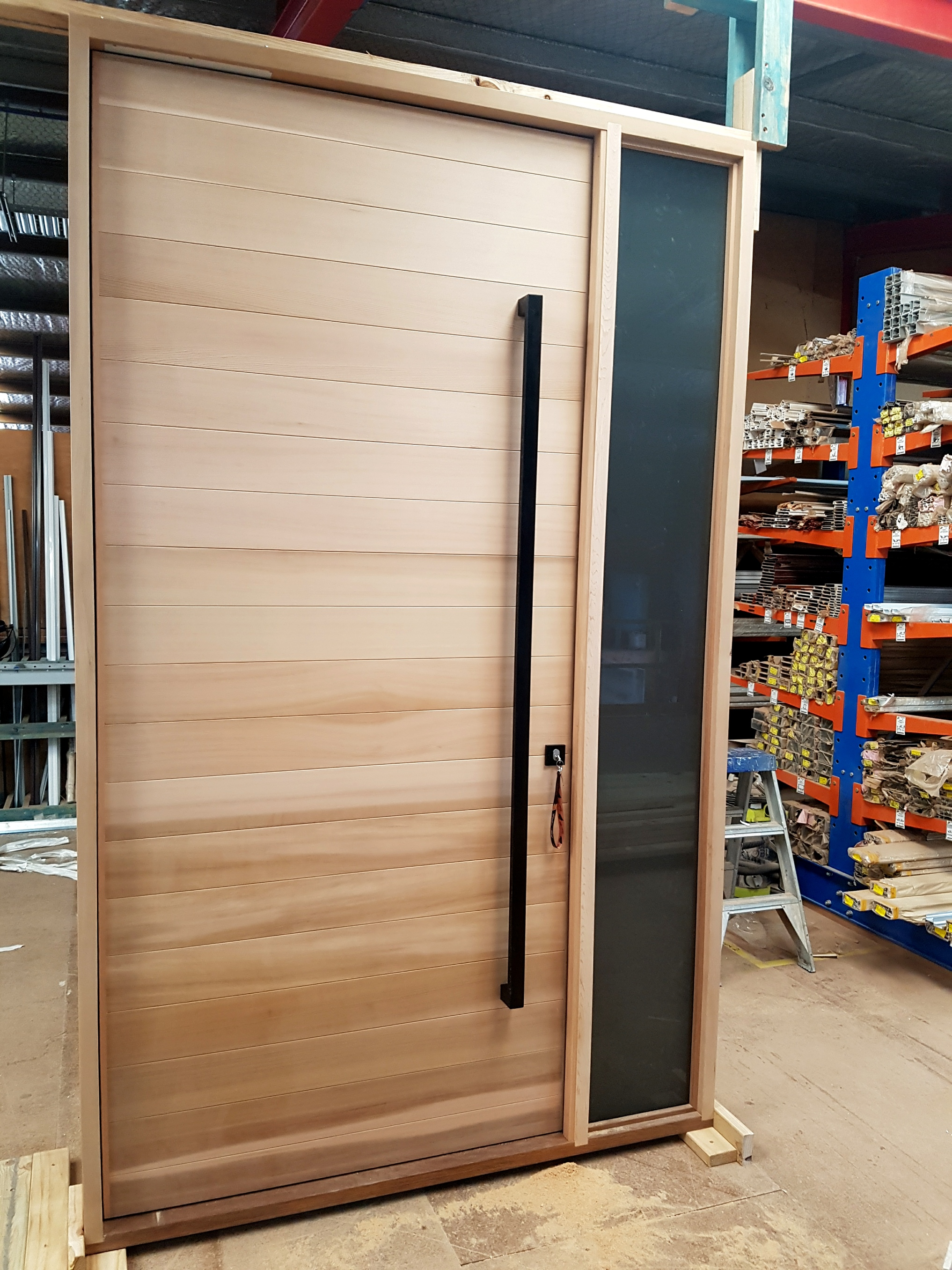Pivot Door Prehung in Frame