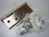 Stainless Steel Hinge (With Screws)