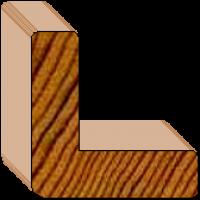 Prefinished Cedar External Corner Trim - 35 x 35 x 10